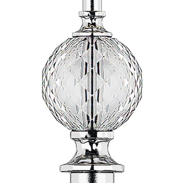 Настольная лампа Lightstar Paralume 725926, 2xE14x40W, прозрачный, хром, белый, металл, хрусталь, текстиль - фото 3
