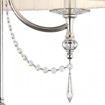 Настольная лампа Lightstar Paralume 725926, 2xE14x40W, прозрачный, хром, белый, металл, хрусталь, текстиль - миниатюра 4