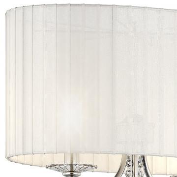 Настольная лампа Lightstar Paralume 725926, 2xE14x40W, прозрачный, хром, белый, металл, хрусталь, текстиль - миниатюра 5