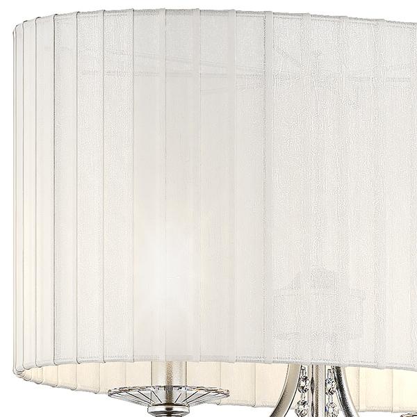 Настольная лампа Lightstar Paralume 725926, 2xE14x40W, прозрачный, хром, белый, металл, хрусталь, текстиль - фото 5