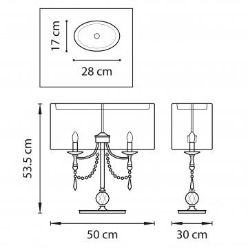Схема с размерами Lightstar 725926