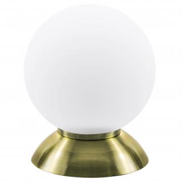 Настольная лампа Lightstar Globo 813911, 1xE14x40W, бронза, белый, металл, стекло