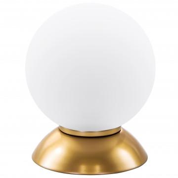 Настольная лампа Lightstar Globo 813912, 1xE14x40W, матовое золото, белый, металл, стекло