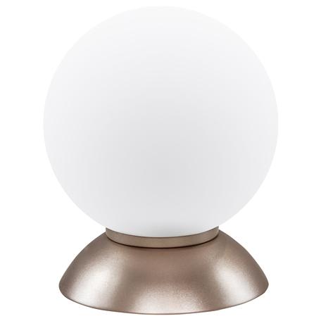 Настольная лампа Lightstar Globo 813913, 1xE14x40W, янтарь, белый, металл, стекло