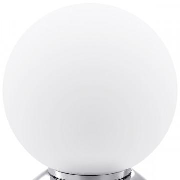 Настольная лампа Lightstar Globo 813914, 1xE14x40W, хром, белый, металл, стекло - миниатюра 2