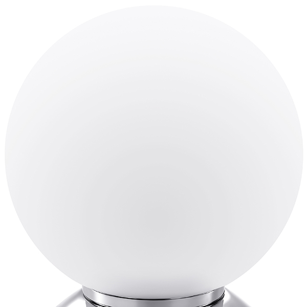 Настольная лампа Lightstar Globo 813914, 1xE14x40W, хром, белый, металл, стекло - фото 2
