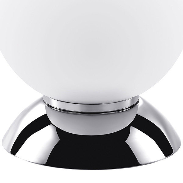 Настольная лампа Lightstar Globo 813914, 1xE14x40W, хром, белый, металл, стекло - фото 4