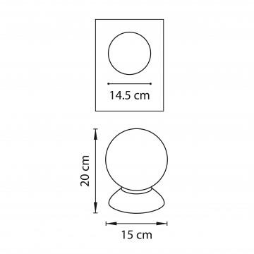 Схема с размерами Lightstar 813914