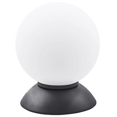 Настольная лампа Lightstar Globo 813917, 1xE14x40W, черный, белый, металл, стекло