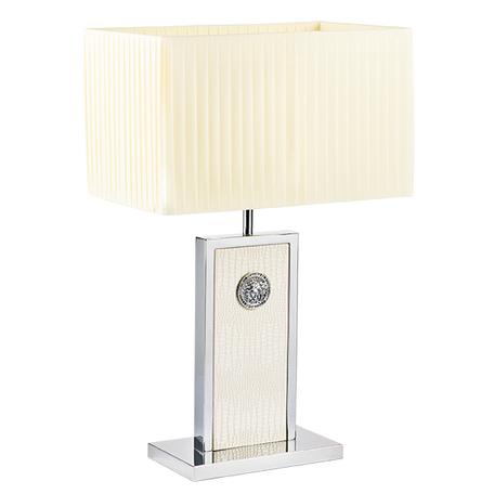 Настольная лампа Lightstar Faraone 870936, 1xE27x60W, серый, белый, кожа/кожзам, текстиль