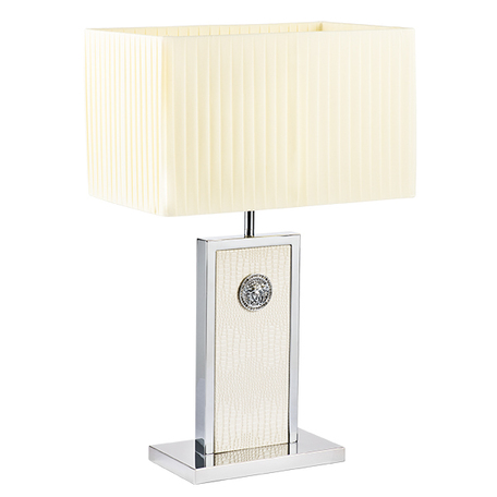 Настольная лампа Lightstar Faraone 870936, 1xE27x60W, серый, белый, кожа/кожзам, текстиль - миниатюра 1