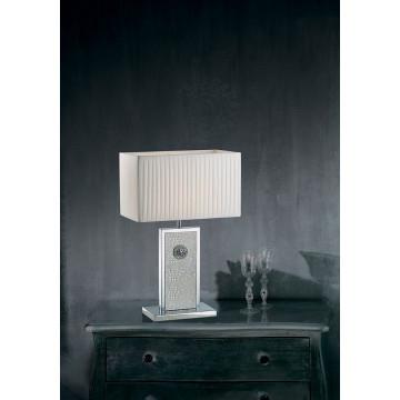 Настольная лампа Lightstar Faraone 870936, 1xE27x60W, серый, белый, кожа/кожзам, текстиль - миниатюра 2