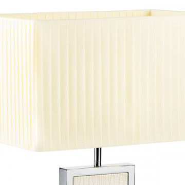 Настольная лампа Lightstar Faraone 870936, 1xE27x60W, серый, белый, кожзам, текстиль - миниатюра 3