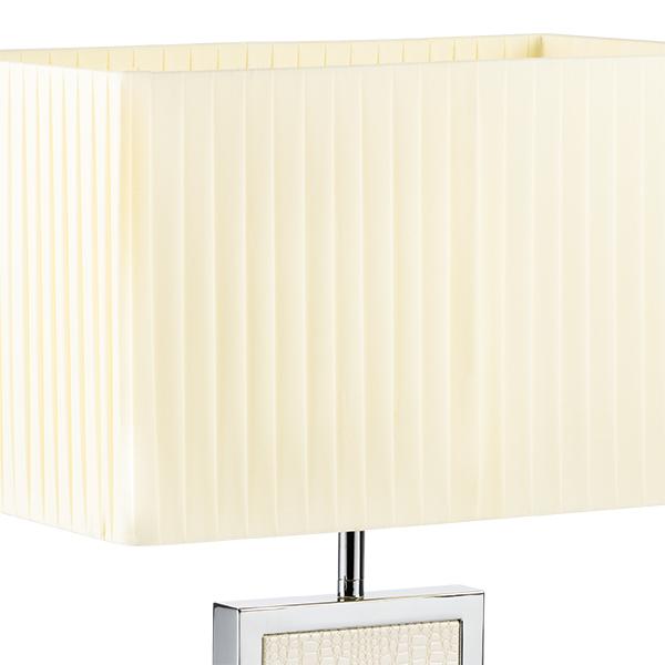 Настольная лампа Lightstar Faraone 870936, 1xE27x60W, серый, белый, кожзам, текстиль - фото 3