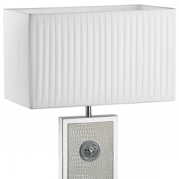 Настольная лампа Lightstar Faraone 870936, 1xE27x60W, серый, белый, кожа/кожзам, текстиль - миниатюра 4