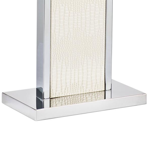Настольная лампа Lightstar Faraone 870936, 1xE27x60W, серый, белый, кожзам, текстиль - фото 4
