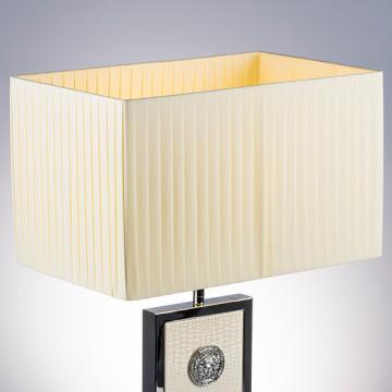 Настольная лампа Lightstar Faraone 870936, 1xE27x60W, серый, белый, кожзам, текстиль - миниатюра 5