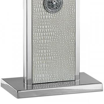 Настольная лампа Lightstar Faraone 870936, 1xE27x60W, серый, белый, кожа/кожзам, текстиль - миниатюра 5