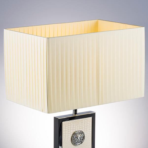 Настольная лампа Lightstar Faraone 870936, 1xE27x60W, серый, белый, кожзам, текстиль - фото 5