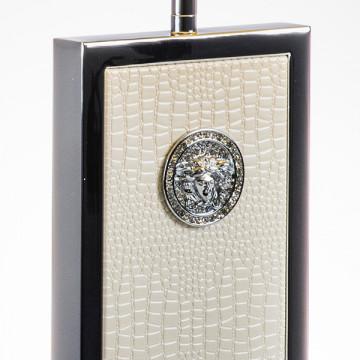 Настольная лампа Lightstar Faraone 870936, 1xE27x60W, серый, белый, кожзам, текстиль - миниатюра 6