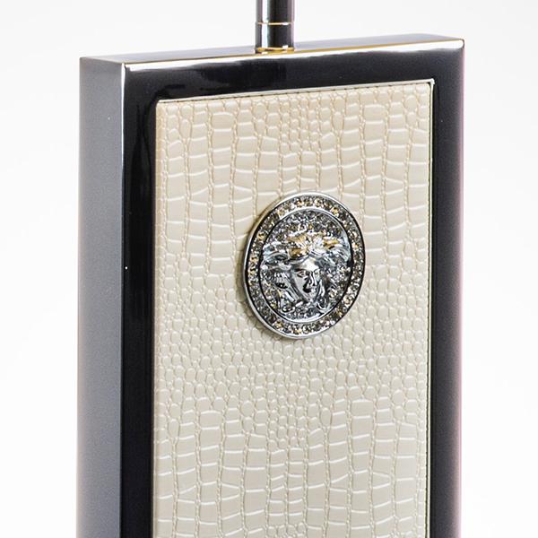 Настольная лампа Lightstar Faraone 870936, 1xE27x60W, серый, белый, кожзам, текстиль - фото 6