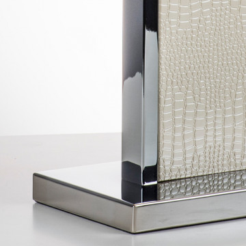 Настольная лампа Lightstar Faraone 870936, 1xE27x60W, серый, белый, кожзам, текстиль - миниатюра 7