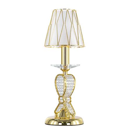 Настольная лампа Lightstar Osgona Riccio 705912, 1xE14x40W, золото, металл со стеклом/хрусталем, пластик