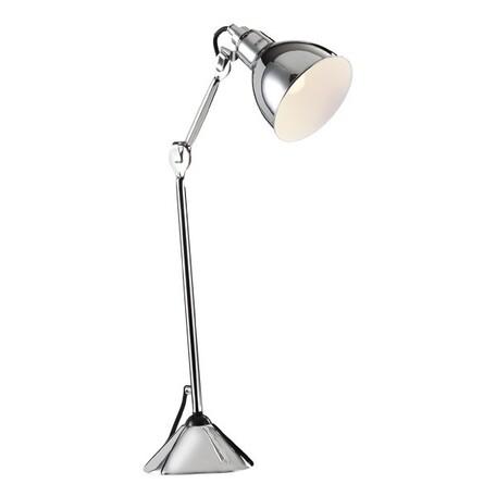 Настольная лампа Lightstar Loft 765914, 1xE14x40W, хром, металл