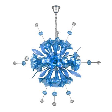 Подвесная люстра Lightstar Celesta 893121, 12xG9x25W, хром, синий, металл, стекло