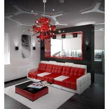 Подвесная люстра Lightstar Celesta 893122, 12xG9x25W, хром, красный, металл, стекло - миниатюра 3