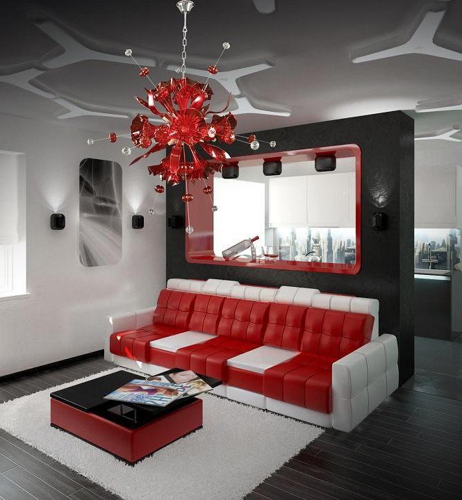 Подвесная люстра Lightstar Celesta 893122, 12xG9x25W, хром, красный, металл, стекло - фото 3