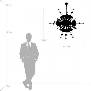 Схема с размерами Lightstar 893122