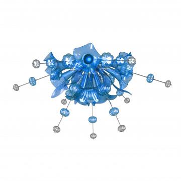 Потолочная люстра Lightstar Celesta 893021, 12xG9x25W, хром, голубой, металл, стекло