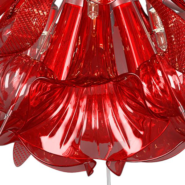 Потолочная люстра Lightstar Celesta 893022, 12xG9x25W, хром, красный, металл, стекло - фото 6