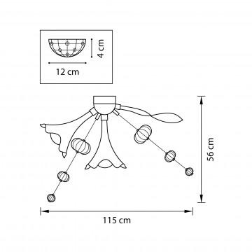 Схема с размерами Lightstar 893022