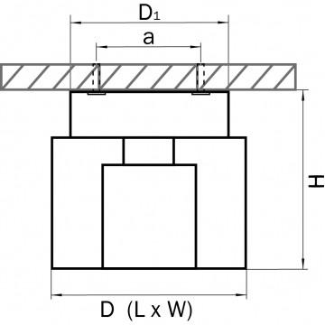 Схема с размерами Lightstar 160104