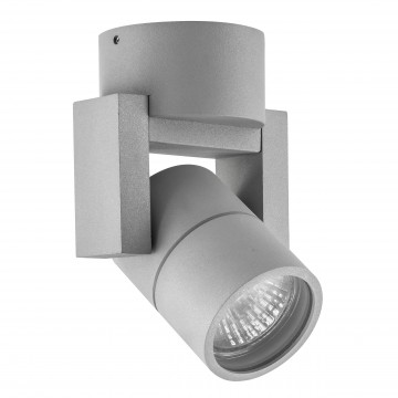 Потолочный светильник с регулировкой направления света Lightstar Illumo L1 051040, IP65, 1xGU10x50W, серый, металл