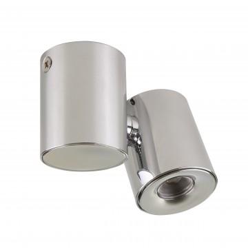 Потолочный светодиодный светильник с регулировкой направления света Lightstar Punto 051124, IP40, 4000K (дневной), хром, металл, стекло