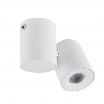 Потолочный светодиодный светильник с регулировкой направления света Lightstar Punto 051126, IP40, 4000K (дневной), белый, металл, стекло - миниатюра 1
