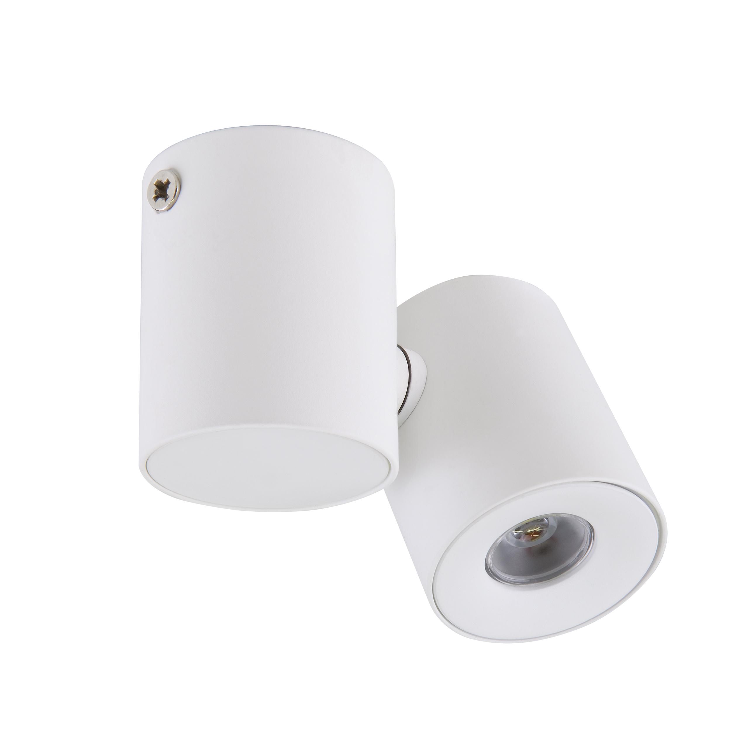 Потолочный светодиодный светильник с регулировкой направления света Lightstar Punto 051126, IP40, 4000K (дневной), белый, металл, стекло - фото 1