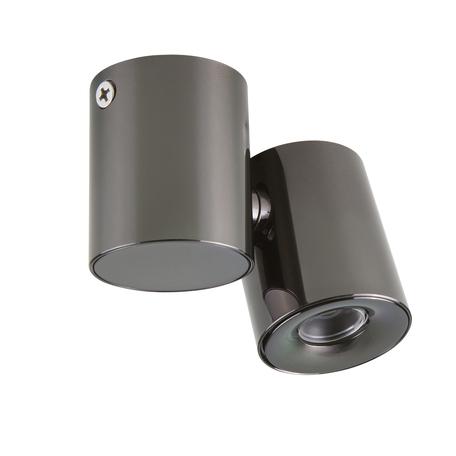 Потолочный светодиодный светильник с регулировкой направления света Lightstar Punto 051127, IP40, 4000K (дневной), черный хром, металл, стекло