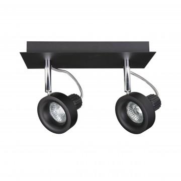 Потолочный светильник с регулировкой направления света Lightstar Varieta 16 210127, 2xGU10x50W, хром, черный, металл