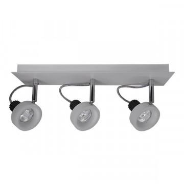 Потолочный светильник с регулировкой направления света Lightstar Varieta 16 210139, 3xGU10x50W, серый, металл