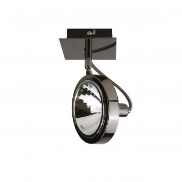 Потолочный светильник с регулировкой направления света Lightstar Varieta 9 210318, 1xG9x40W, черный хром, металл