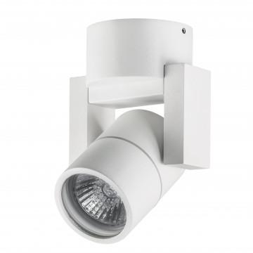 Потолочный светильник с регулировкой направления света Lightstar Illumo L1 051046, IP65, 1xGU10x50W, белый, металл