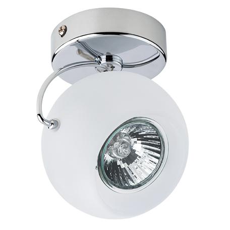 Потолочный светильник с регулировкой направления света Lightstar Fabi 110514, 1xGU10x50W, хром, белый, металл, стекло