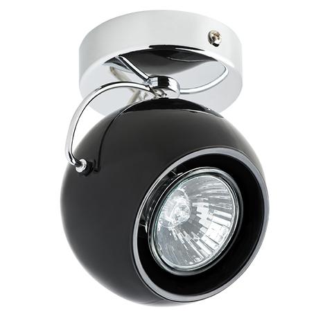 Потолочный светильник с регулировкой направления света Lightstar Fabi 110574, 1xGU10x50W, хром, черный, металл, стекло