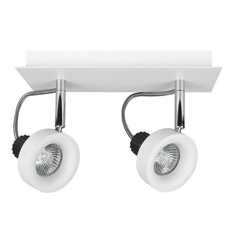Потолочный светильник с регулировкой направления света Lightstar Varieta 16 210126, 2xGU10x50W, белый, металл