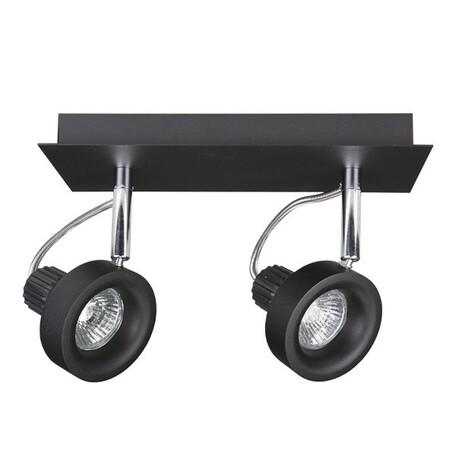 Потолочный светильник Lightstar Varieta 16 210127, 2xGU10x50W, черный, металл