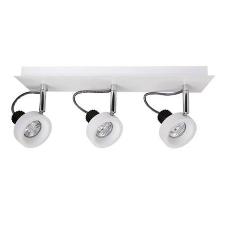 Потолочный светильник с регулировкой направления света Lightstar Varieta 16 210136, 3xGU10x50W, белый, металл